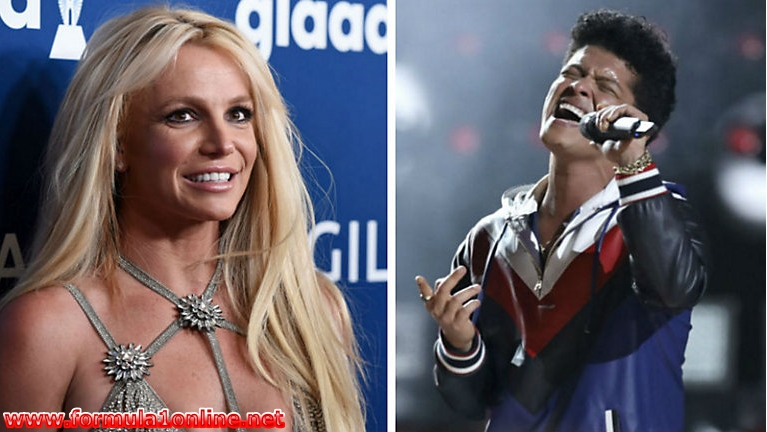 Bruno Mars and Britney Spears