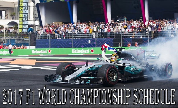 2017 F1 World Championship Schedule