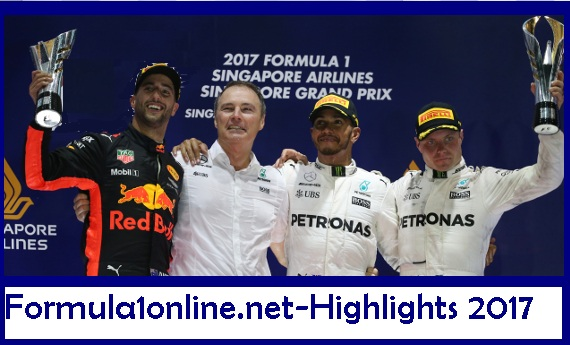 F1 SINGAPORE GRAND PRIX-RACE HIGHLIGHTS-17-SEPTEMBER-2017